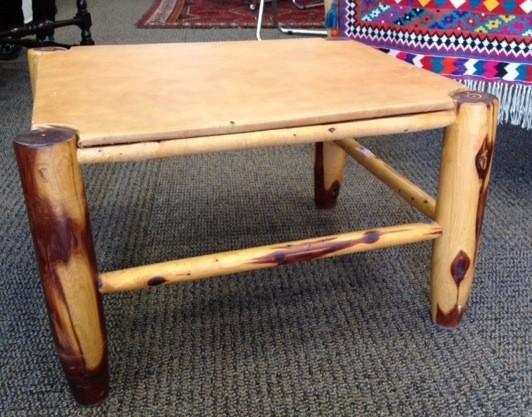 Cedar Leather Table