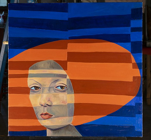 Woman in Shades of Orange by Marianne Levy