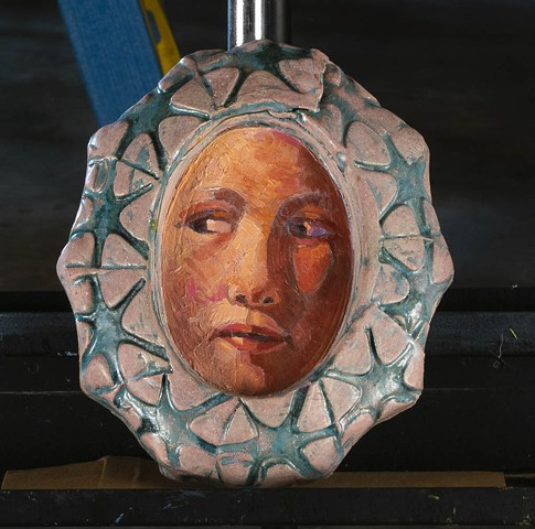 Ceramic Face by Marianne Levy