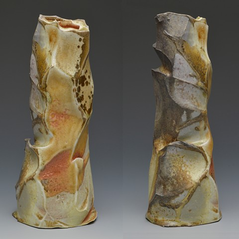 Woodfire, Porcelain, Glaze, Anagama, Vase, Faceting