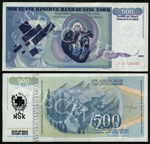 NSK State Reserve Bank of New York: Currency Series 2 (Collaboration with Charles Lewis)