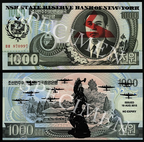 NSK State Reserve Bank of New York: Currency Series 5 (Collaboration with Charles Lewis)