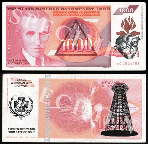 NSK State Reserve Bank of New York: Currency Series 9 (Collaboration with Charles Lewis)