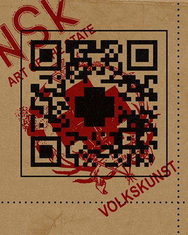 QR Code. A version of this was used on the back cover of State of Emergence: The First NSK Citizens' Congress in Berlin (Monroe, 2011)