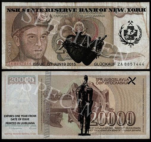 NSK State Reserve Bank of New York: Currency Series 4 (Collaboration with Charles Lewis)