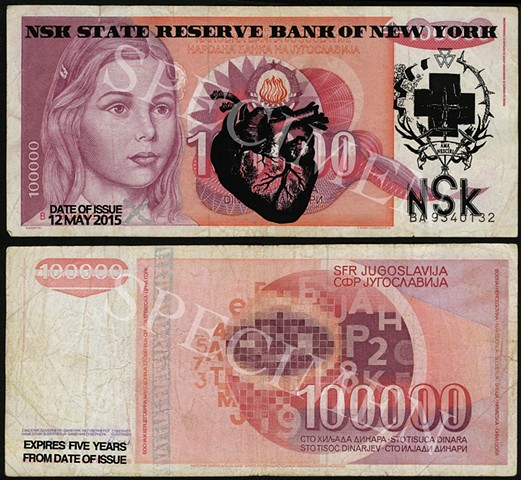 NSK State Reserve Bank of New York: Currency Series 1 (Collaboration with Charles Lewis)