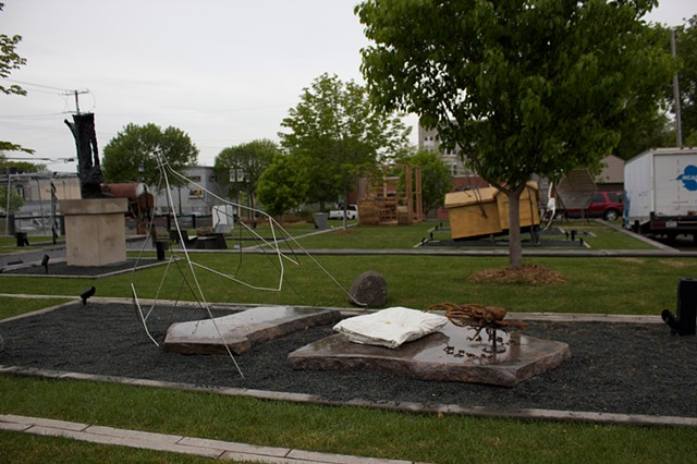 On view at the MCAD Sculpture Garden