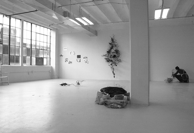 Installation View of Work in Paolo's Studio