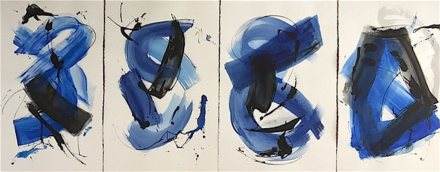 Blue Series of 4