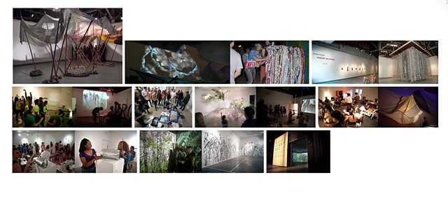 images of works made by the collective, dates ranging from 2010 - 2014