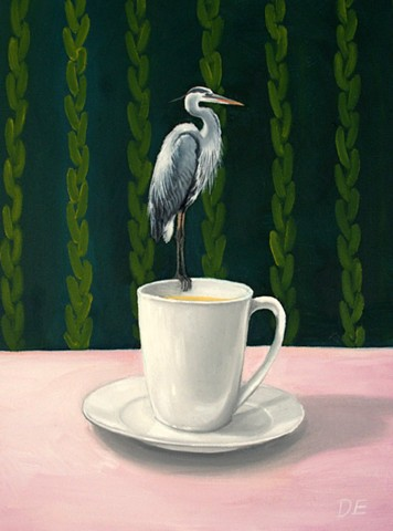 There's a Heron on my Teacup