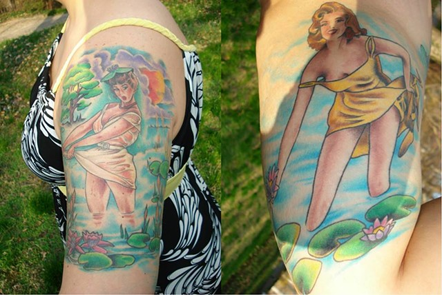 pin ups havertown electric tattoo and piercing Tattoos by Brian Patton