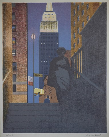 Empire State, screen print