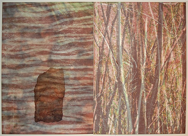 Scoria and Willow (Diptych)