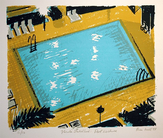 Pool Nocturne (from Florida sketchbook)