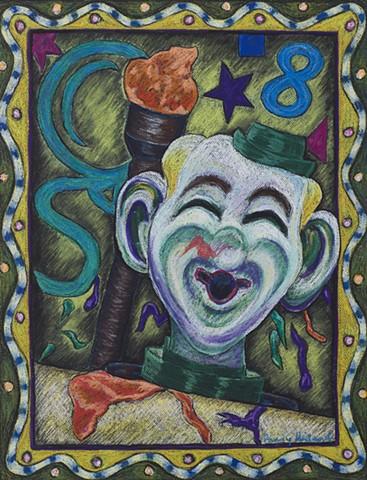Clown balloon arcade game Coney Island