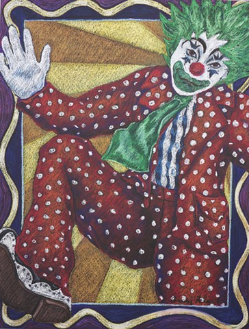 Colorful Clown Vintage inspired
