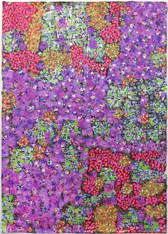 pink, violet, metallic, fine detail, fun, playful, cheerful, collage, colorful