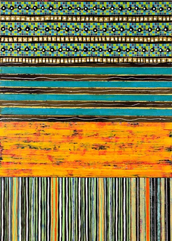 paper, black, gold, orange and burgundy, stripes, cheerful, colorful, pattern, contemporary, abstract