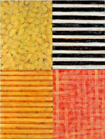 Orange, black and white, stripes, abstract,