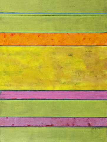 yellow, green, pink, bright, joyful, sunny, intense, vibrant, bold use of color