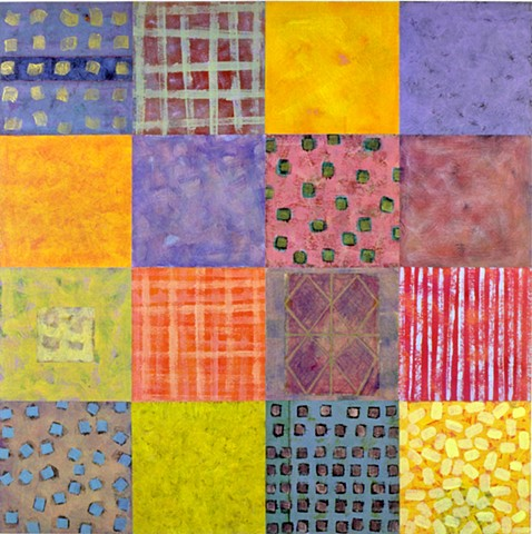squares, colorful, multicolor, yellow, violet, abstract