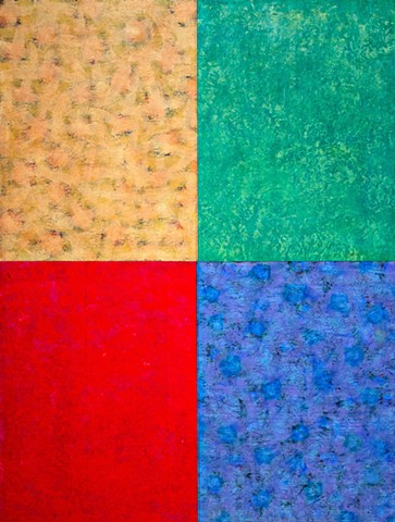 golden yellow, deep red, blue, green, paper, canvas, multicolor, bright, colorful