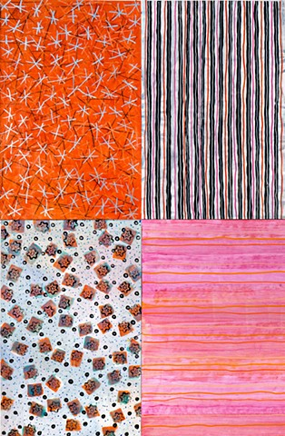 pink, orange-red, pattern, stripe, paper, abstract, vibrant, cheerful,