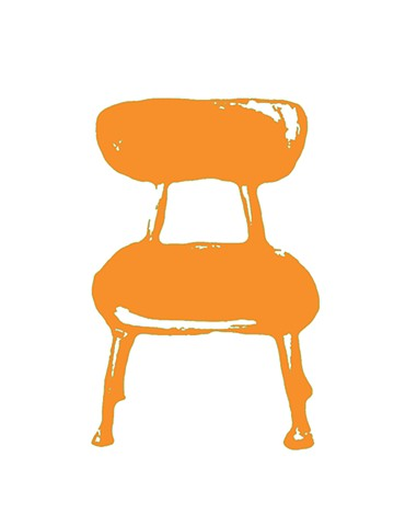 School Chair. Variety of color ways available. Multiple sizes available. Available float mount framed or as a digital print. Inquire for shipping & price information.