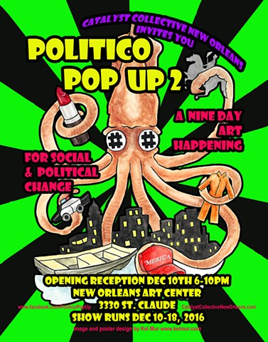 Politico Pop-Up Promo Poster