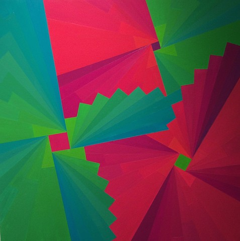 Fracture Magenta and Green