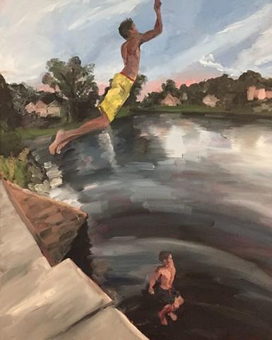 'Jump'.  Artist:  Lori Slotkin.