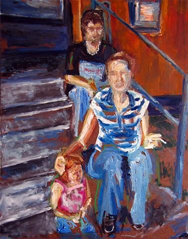 'Eddie, Amber and Jayleen'.  Artist: Jenny Snead.