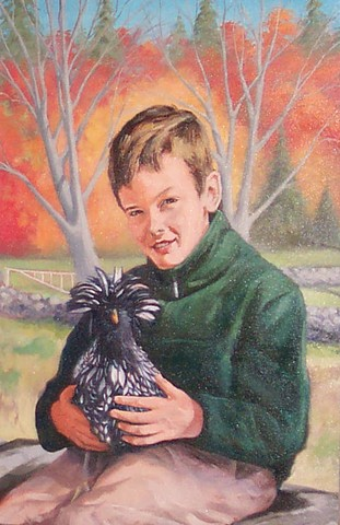 Justin and chicken