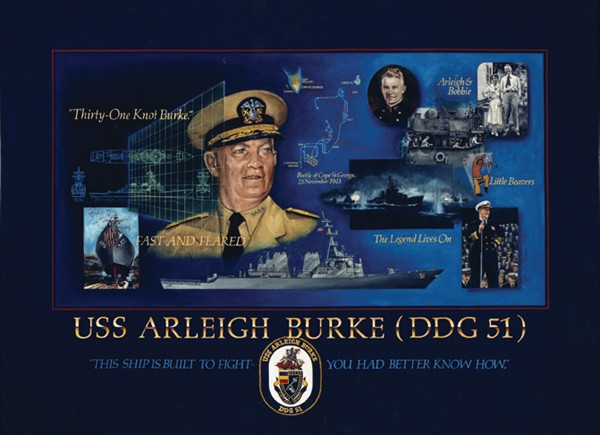 Poster Commemorating the Service of Admiral Arleigh Burke