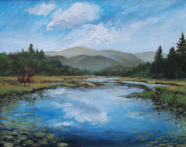"""Sucker Brook with Moose"""