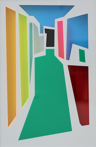 Matthew Thorley. A Sign Of Things To Come 2012 Perspex 54 x 37 cm SOLD by Melody Smith Gallery