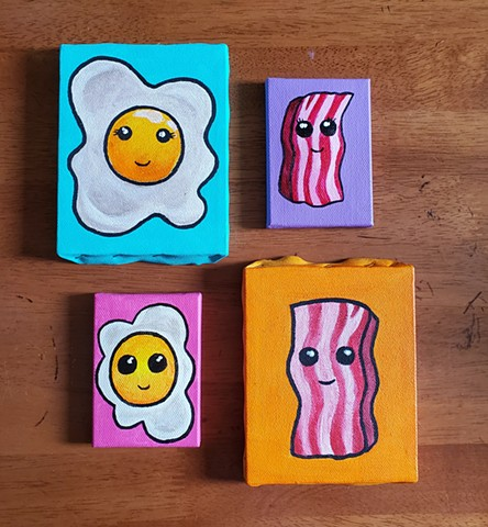 All Rights Reserved By Shauna Fujikawa Hope Tattoos & Art - Cute eggs and bacon