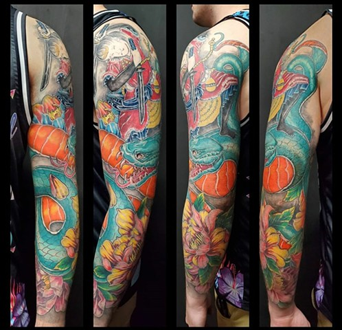 All Rights Reserved By Shauna Fujikawa Stickles- Japanese sleeve