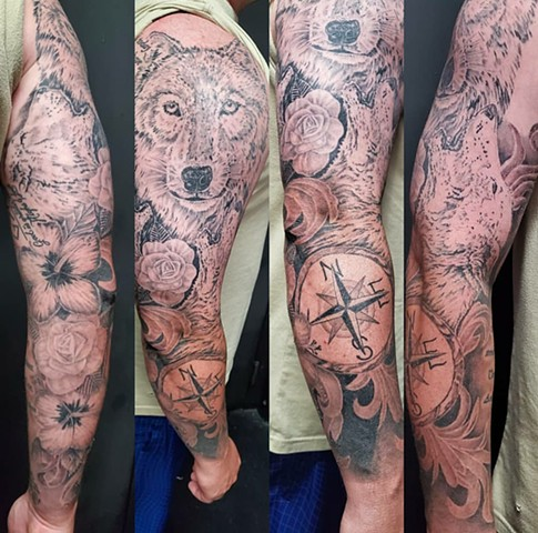 All Rights Reserved By Shauna Fujikawa Stickles- Wolf sleeve