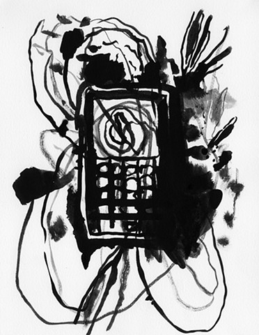 mobile phone watercolor