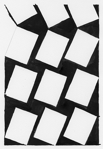 geometric art, black and white