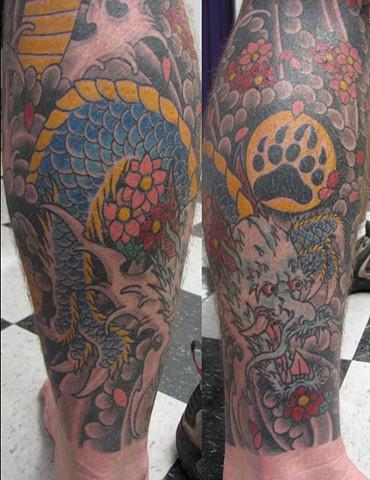Custom Japanese Tattoo Sleeve Oklahoma