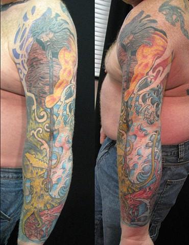 Jeff's Mega Cover Up Poseidon Sleeve