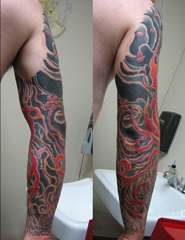 custom Japanese Tattoo Sleeve Oklahoma