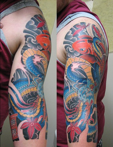 custom Japanese Tattoo Sleeve Oklahoma Atomic Lotus Tattoo