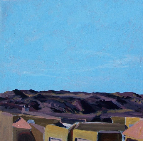 Las Cruces new mexico facing the valley original acrylic painting on canvas