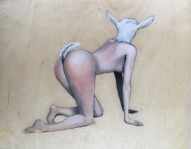 foot and mouth,studioama art, allison morgan, goat ladies