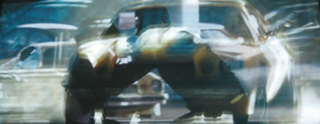 race car,blur,fractured image