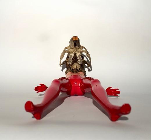 beaver, red legs, me too, conceptual female art